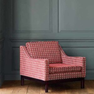 jane-churchill-delta-red-fauteuil